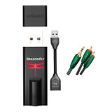 AudioQuest - Dragonfly V1.2 USB DAC + AudioQuest DragonTail USB 2.0 Extender + AudioQuest- Evergreen Mini-To-Rca 2m Cable