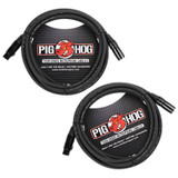 Strukture PHM15 Pig Hog 8mm Mic Cable 15ft XLR (2-Pack)