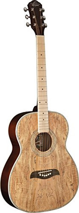 Oscar Schmidt OF2MFSM 6-String Folk-style Acoustic Guitar with Spalted Maple Top and Maple Fretboard