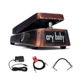 Dunlop JC95 Jerry Cantrell Wah Guitar Pedal with R-Angle Patch Cable and 10ft Instrument Cable