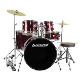 Ludwig Accent Fuse Drum Set in Red Foil finish