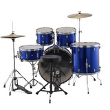 Ludwig Accent Fuse Drum Set in Blue Foil finish