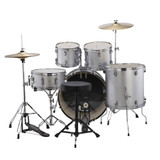 Ludwig Accent Drive Drum Set in Silver Foil finish