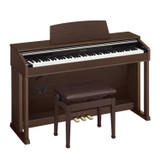 Casio Celviano AP260BN 88 Full Size Digital Cabinet Piano with Ivory Touch Keys in Walnut