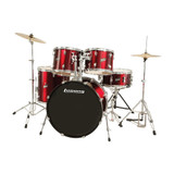 Ludwig Accent Drive Drum Set in Red Foil Finish