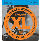 D'Addario EXL110 10-46 Nickel Wound Electric Guitar Strings Regular Light