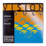 Thomastik Vision Solo 4/4 Violin Strings Set with Silver D,Silver G Wound Strings
