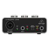 BEHRINGER U-PHORIA UM2 Audio Interface with XENYX Mic Preamplifier