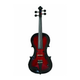 Barcus Berry Vibrato AE Series BAR-AEVR Acoustic Electric Violin in Red Berry Burst