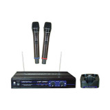 VocoPro UHF-3205-5-U Dual Channel Rechargeable Wireless Microphone System