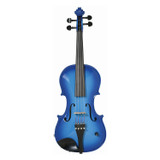 Barcus Berry Vibrato AE Series BAR AEVB Acoustic Electric Violin in Barcus Berry Blue
