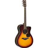 Yamaha FSX830C BS Solid Top Acoustic-Electric Guitar in Brown Sunburst