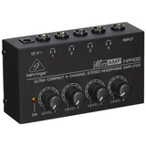 Behringer Microamp HA400 Ultra-Compact 4 Channel Stereo Headphone Amplifier