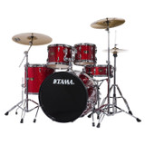 """TAMA IP52NCCPM Imperialstar 5pc Complete Drum Set Kit with 22"""" Bass Drum & Hardware, Cymbals in Candy Apple Mist"""