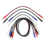 "Pig Hog PPM35-8PK Pack of 8 Mixed 3.5mm Mono Patch Cables (2 x 24"", 2 x  18"", 2x 12"", 2x 10"", mixed colors)"