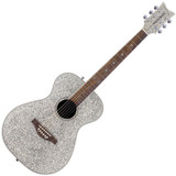 Daisy Rock DR6206-U Girl Guitars Pixie Acoustic Guitar in Silver Sparkle