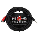 Pig Hog PB-S3R10 Stereo Breakout 10ft TRS to Dual RCA Cable