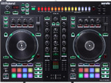 Roland DJ-505 2-channel, 4-deck DJ Controller with Drum Machine for Serato with Built-in TR-series Drum Sounds with TR-S Pad Interface, Sequencer, 8 Pads, Transport Controls and Microphone Input with Vocal FX