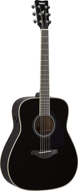 Yamaha FG-TA - Black 6 string Acoustic electric Guitar with Sitka Spruce Top, Mahogany Back and Trans Acoustic Technology in Black