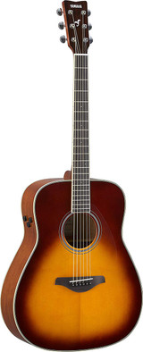 Yamaha FG-TA - Brown Sunburst 6 string Acoustic electric Guitar with Sitka Spruce Top, Mahogany Back and Trans Acoustic Technology in Brown Sunburst