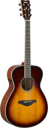 Yamaha FS-TA - Brown Sunburst 6 string Acoustic electric Guitar with Sitka Spruce Top, Mahogany Back and Trans Acoustic Technology in Brown Sunburst