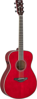 Yamaha FS-TA - Ruby Red 6 string Acoustic electric Guitar with Sitka Spruce Top, Mahogany Back and Trans Acoustic Technology in Ruby Red