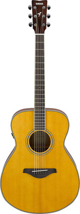 Yamaha FS-TA - Vintage Tint 6 string Acoustic electric Guitar with Sitka Spruce Top, Mahogany Back and Trans Acoustic Technology in Vintage Tint