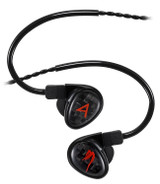 Astell & Kern Michelle Limited In-Ear Headphones with Silver Tinsel Cable & detachable 2 pin connector and 3 Way 3BA Drivers in Black