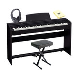 Casio Privia PX-770BK 88-Keys, 3 Touch Sensitivity Levels, Multi-dimentional Mophing AiR Sound Souce,Tri-sensor Scaled Hammer Action Keyboard