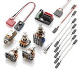 EMG 1 - 2 Pickup Conversion Wiring Kit Solderless PPP W/ Push/Pull