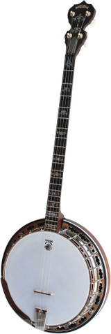 Deering Sierra 4 String Maple Plectrum Banjo with Resonator (Hardshell Case Included)