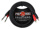"Pig Hog PD-R1410 Dual RCA (Male) to Dual 1/4"" Mono (Male) Dual Cable 10 feet"