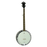 Washburn Americana Series B11K-A 5 String Banjo wih Resonator and Rolled Brass Tone Ring (Includes Hardshell Case)- Natural
