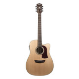 Washburn HD100SWCEK-D Heritage Series Dreadnought 6 String Acoustic Electric Guitarwith Solid Mahogany Body and Fishman Electronics - Natural