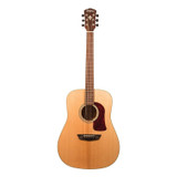 Washburn HD100SWK-D Heritage 100 Series 6 String Acoustic Guitar with Solid Mahogany Body, Solid Torrefied Sitka Spruce Top and Rosewood Fretboard - Gloss Natural