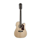 Washburn HD10SCE12-O Heritage 10 Series 12 String Acoustic Cutaway Guitar with with solid Sitka spruce top and Fishman electronics - Natural