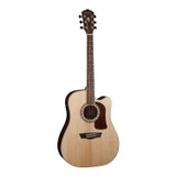 Washburn HD20SCE 6 String Heritage 20 Series cutaway-electric Acoustic Guitar with solid Sitka Spruce Top & Pau Ferro Back and Sides Fishman Electronics - Natural Gloss