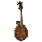 Washburn M118SWK Americana Series All-solid F-Style Mandolin with Carved Sitka Spruce Top and Vintage Distressed Cosmetics - Hardshell case included.