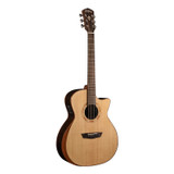 Washburn WCG20SCE 6 String Acoustic-Electric Guitar with with Ergonomic Armrest Bevel, Pau Ferro Back & Sides and Fishman Electronics - Natural