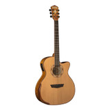 Washburn WCG66SCE 6 String Acoustic Electric Guitar with Cedar Top, Spalted Maple Back and Sides and Fishman Electronics - Natural