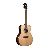 Washburn WCG700SWEK 6 Strings Acoustic Electric Guitar with Solid Ovankol Back & Sides,  Deluxe Fishman Electronics (Includes Case) - Natural