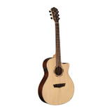 Washburn Woodline 20 Series WLO20SCE 6 String Acoustic Electric Guitar with Solid Sitka Spruce Top, Pau Ferro Back & Sides and Fishman electronics - Natural