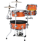 Tama Cocktail Jam 4-piece Cocktail Mini Drum Kit Shell Pack with Hardware and Bag - Bright Orange Sparkle