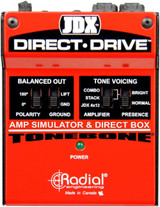 Radial JDX Direct-Drive - Active Guitar Amp Direct Box DI with Guitar Amp Simulation, Presence Switch, Tuner out, Polarity-reverse and Ground lift
