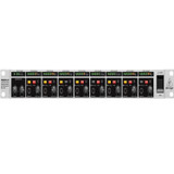 Behringer HA8000 V2 8-Channel High Power Headphones Mixing and Distribution Amplifier with Level Meter on Each Channel and Two Stereo Main Inputs