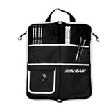 Ahead SB2 Deluxe Stick Bag Case in Black with Gray Trim, Heavy duty zippers and Exterior shoulder strap and handle