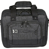"""Kaces KB1210 Luxe Durable Water Resistant Keyboard & Gear Bag, 12.5"""" x 10.5"""" x 3.5"""" - Charcoal Black"""
