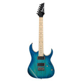 Ibanez RG421AHM RG Series 6 String Solidbody Electric Guitar with Ash Body, Maple Neck, Maple Fingerboard and 2 Humbucking Pickups in Blue Moon Burst