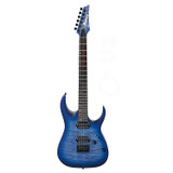 Ibanez RGA42FM RGA Series Solidbody Electric Guitar with Mahogany Body, Maple Top and Neck,  Fingerboard, and 2 Humbucking Pickups in Blue Lagoon Burst Flat