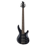 Yamaha TRBX605FM 5 string Electric Bass Guitar with with Solid Alder Body, Flamed Maple Top, Maple/Mahogany Neck 2 Humbucking Pickups and Active 3-band EQ in Trans Black